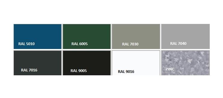 RAL barve za panelne ograje